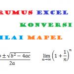 Rumus Excel Konversi Nilai Mapel