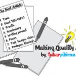 Tips Cermat Membuat Artikel Berkualitas