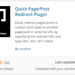 Mengatur link halaman WordPress dengan Quick Redirects
