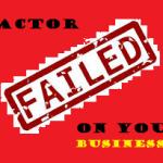 Faktor Penyebab Kegagalan Sebuah Usaha