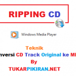 Copy CD Track Original ke dalam Format MP3